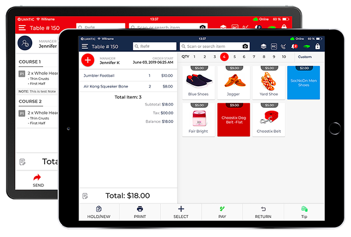 Best iOS and Android POS System Software | Point of Sale | Getquantic